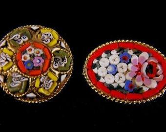 Vintage Pin LOT Miniature Mosaics Venetian Tesserae Inlay