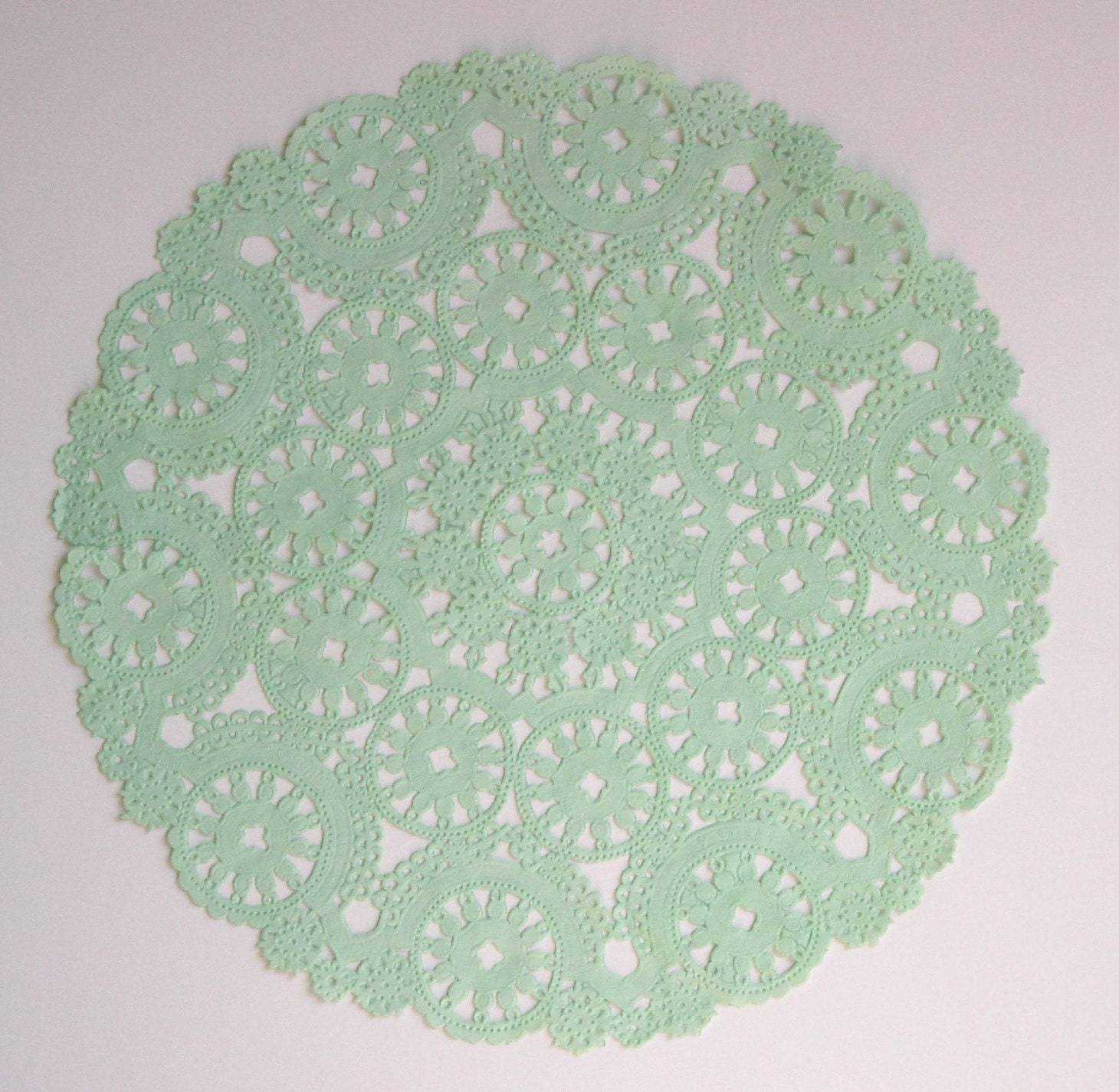 10 dip dyed MINT GREEN paper doilies 10 by HomeDesignsByGloria