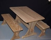 Childrens Trestle Table Set Unfinished