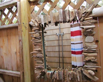 "Cape Cod Driftwood Mirror ""Cape Camp Mirror"" Indoor/Outdoor"