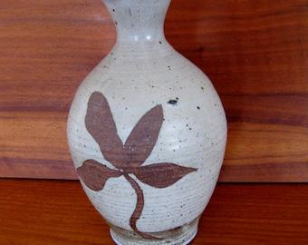 Mid Century pottery vase by Miller signed stoneware vase Robert Maxwell, Martz era