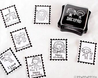 Black ink Pad for rubber stmap