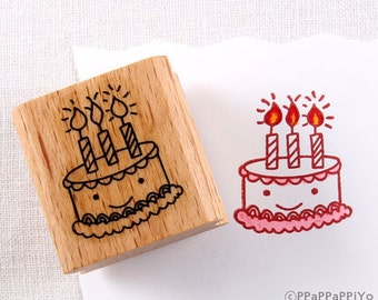 50% OFF SALE birthday cake Rubber Stamp