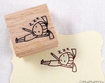 40% OFF SALE I am sleeping Rubber Stamp