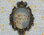 Hand painted vintage Brooch with your pet