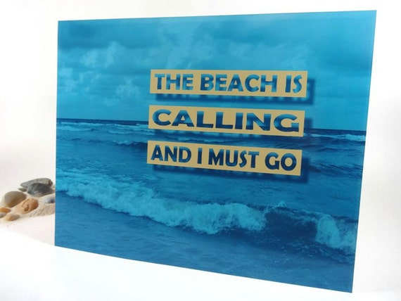 Beach Decor Art Print Inspirational Quote Beach By