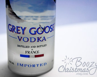 Grey Goose Ornament-- Grey Goose Vodka Themed Christmas Tree Ornament.