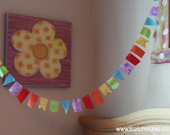 Mini Rainbow Scrappy Bunting