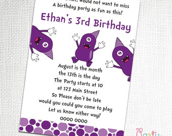 Purple People Eater Party Invitation