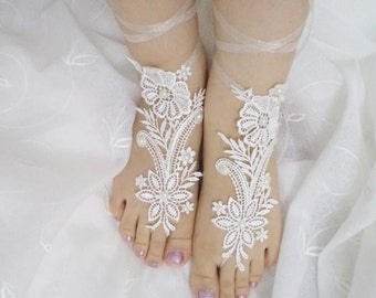 Wedding Sandals, Barefoot Sandals, Foot Jewelry, Barefoot Wedding Sandal, Beach Wedding, Bridesmaid gift, Wedding Shoes