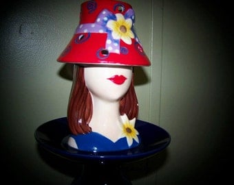 Blue Lady Serving dish / Totem