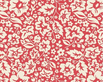 Floral Red - Half Yard Cut - The Sweetest Thing - Riley Blake Designs - Cotton Fabric - Quilting Fabric