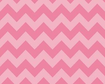 Medium Chevron Tone on Tone Hot Pink  by Riley Blake Designs Half Yard Cut