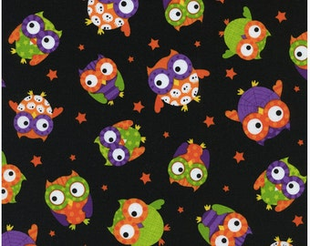 Halloween owls Fat Quarter Cut, Timeless Treasures.