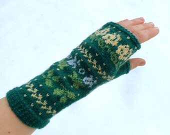 Merino wool fingerless gloves,fingerless mittens,colorful wrist warmers,womens arm warmers,autumn fashion accessories,Christmas gift for Her