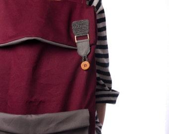 Laptop Backpack, Canvas Backpack, School Backpack, Burgundy Backpack, Red Backpack, Crochet Backpack, College Backpack, Back to school
