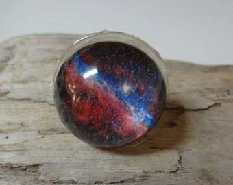 Universe Ring - Galaxy - Milky Way - Solar System - Moon & Stars - Planets - Supernova - Resin Dome Ring - Space Jewelry - NASA - Photo Ring