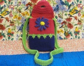 Little Girl Crocheted Floral Purse