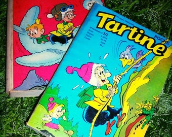 Two 1975 Tartine Childrens Books France French Cartoon