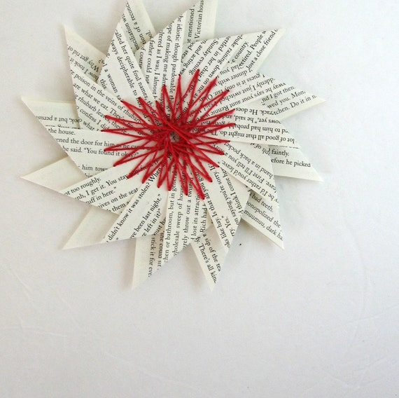 Large paper star heart origami string art ornament home for How to make a big paper star