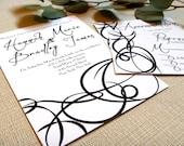 Invitation for Wedding, Elegant Swirls