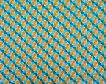 Joel Dewberry Fabric - 1/2 Metre Notting Hill - Hourglass in Aquamarine