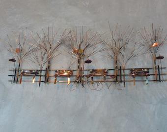 Metal Sculpture titled THE PARK: Metal sculpture metal wall art