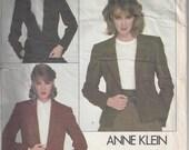 Vogue American Designer Anne Klein Jacket Sewing Pattern 2785 Size 14