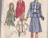 Simplicity 9819 Sewing Pattern, Skirt And Jacket, Size 14