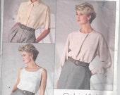 Vogue 1860 Calvin Klein Top, Blouse Size 14 (on sale)