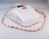 3 Piece Jewelry Set in Salmon Pink