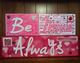 Valentine's Day Wood Blocks - Be Mine Always
