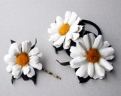 Leather Daisies Hair Accessories set
