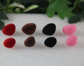 10 PCS 15mm Pink (Red Black Brown) Velvet Safety Nose  for Amigurumi or crochet doll