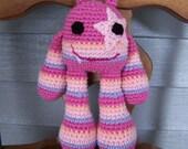Custom Pink Snaggletooth Star Monster Amigurumi's for Mandy