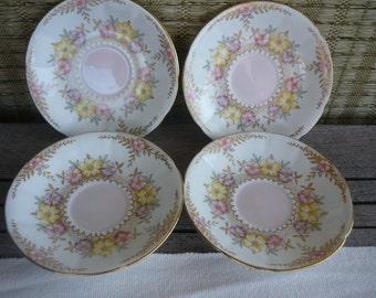 Vintage Decorative Bone China Saucer Plates, Collectable China, Shabby Chic, Bridal Shower, Vintage Wedding