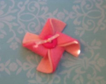 Girls Hair Clip, Pinwheel Hair Clip, Felt Hair Accessory,