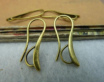 10PCS antique bronze 14x28mm ear wire ear hooks Earrings Accessories-  WC2158