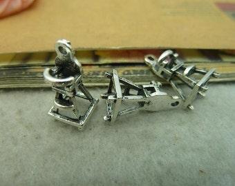 20PCS antique silver 8x8x20mm Baby Chair charm pendant- wC3642