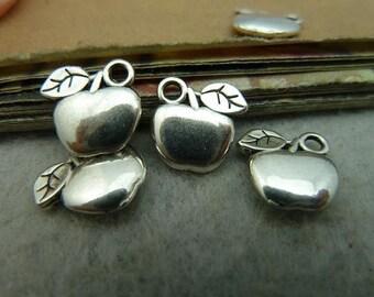 100PCS antique silver 11x14mm apple charm pendant- WC3002