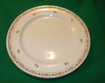 "One (1), 9 3/4"" Dinner Plate, from John Maddock & Sons, in the MAD 6 Pattern."