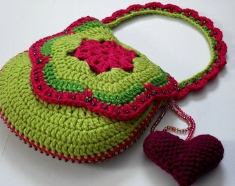 Bag Crochet Pattern Free Download : INSTANT PATTERN DOWNLOAD - Crochete d Purse / Bag Pattern (Tutti ...