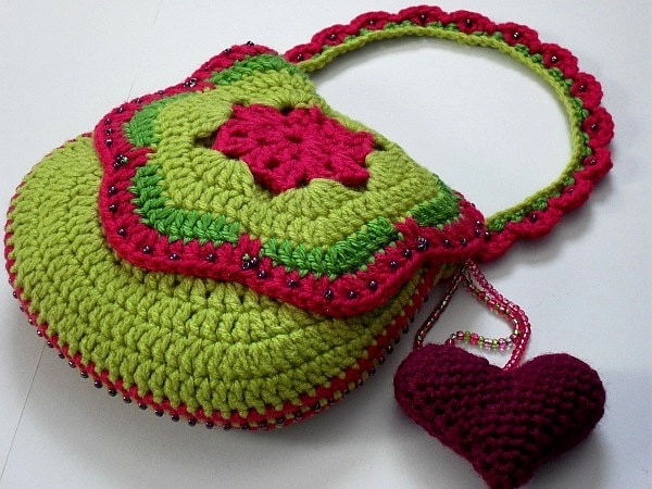 Free Crochet Bag Patterns To Download : INSTANT PATTERN DOWNLOAD Crocheted Purse / Bag by lollypoppers