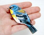 Bird Wooden Brooch