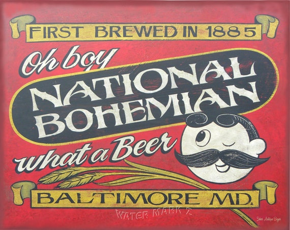 National Bohemian  Print & MAT,  decor