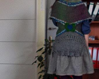BOHEMIAN COMFORT - jacket shrug vest cardi chic romantic eco woman  by Zestria