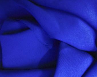 Solid Chiffon Royal Blue 58 Inch Fabric by the Yard, 1 Yard.