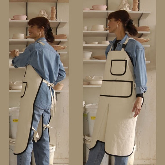 pottery art gardening apron w chap legs by mary 39 s. Black Bedroom Furniture Sets. Home Design Ideas