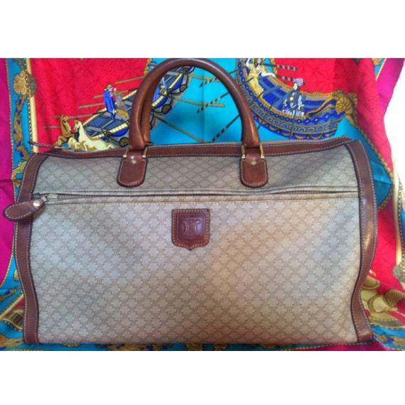 Vintage CELINE large travel duffle bag with beige by eNdApPi