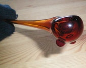 Gandalf Pipe with Feet - Handblown Glass - Made to Order